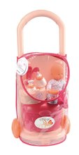 Táska játékbabával Nursery Écoiffier kerekes kiegészítőkkel