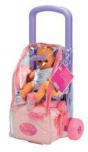 Dětský vozík s panenkou a doplňky Écoiffier od 18 měsíců růžovo-fialový