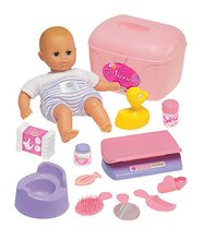 Doplňky pro panenky - Vozík s panenkou a doplňky Écoiffier růžovo-fialový od 18 měsíců_0