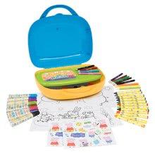 Výtvarný set pre deti Peppa Pig Smoby v kufríku so 60 doplnkami