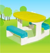 Domčeky sety - Set domček Máša a medveď Smoby s kvetináčom a stôl Piknik s úložným priestorom od 24 mes_14