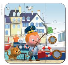 Detské puzzle do 100 dielov - Puzzle Leova loď Janod v kufríku 6-9-12-16 dielov od 3 - 6 rokov_3