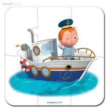 Detské puzzle do 100 dielov - Puzzle Leova loď Janod v kufríku 6-9-12-16 dielov od 3 - 6 rokov_2