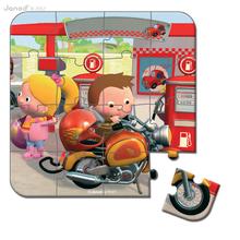 Detské puzzle do 100 dielov - Puzzle Markova motorka Janod v kufríku 6-9-12-16 dielov od 3 - 6 rokov_4