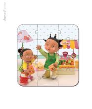 Detské puzzle do 100 dielov - Puzzle Zoein obchod Janod v kufríku 6-9-12-16 dielov od 3 - 6 rokov_3