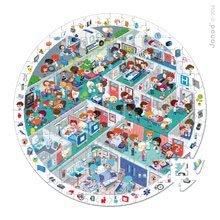 Detské puzzle od 100-300 dielov - Okrúhle puzzle Pohotovosť Janod v okrúhlom kufríku 208 dielov od 6 - 9 rokov_0