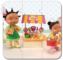 Detské puzzle do 100 dielov - Puzzle Zoein obchod Janod v kufríku 6-9-12-16 dielov od 3 - 6 rokov_2