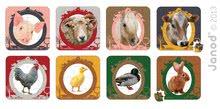 Detské puzzle do 100 dielov - Obojstranné puzzle Farma Janod v kufríku 16-20-24-30 dielov od 3 - 7 rokov_0