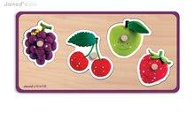 Puzzle pre najmenších - Drevené puzzle pre najmenších Quadrifruits Fleurus Janod 4 diely od 12 mes_0