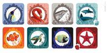 Detské puzzle do 100 dielov - Obojstranné puzzle More a oceán Janod v kufríku 16-20-24-30 dielov od 3 - 7 rokov_0