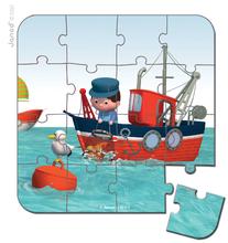 Detské puzzle do 100 dielov - Puzzle Leova loď Janod v kufríku 6-9-12-16 dielov od 3 - 6 rokov_5