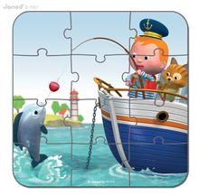 Detské puzzle do 100 dielov - Puzzle Leova loď Janod v kufríku 6-9-12-16 dielov od 3 - 6 rokov_4