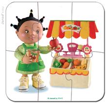 Detské puzzle do 100 dielov - Puzzle Zoein obchod Janod v kufríku 6-9-12-16 dielov od 3 - 6 rokov_1