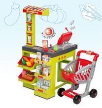 Kuchynky pre deti sety - Set kuchynka CookMaster Smoby so zvukmi a ľadom a obchod Supermarket s pokladňou_22