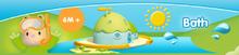 Hračky do vany - Knížka do vody Cotoons Smoby voděodolná barevná od 12 měsíců_8