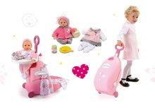 Set opatrovateľský kufrík pre bábiku Baby Nurse Smoby a bábika so šatôčkami 32 cm