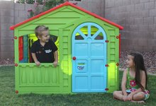 Domčeky pre deti - Domček Happy House PalPlay zeleno-modrý od 24 mes_0