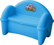 Detská pohovka PalPlay s úložným priestorom modrá