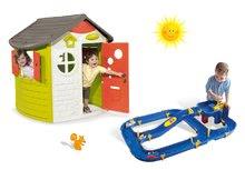 Set domček pre deti Jura Lodge Smoby s dvoma dverami a vodná hra Waterplay Niagara od 2 rokov