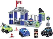 Stavebnica policajná stanica Abrick Écoiffier s 3 autami a 2 figúrkami od 18 mes