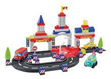 Joc de construit Maşini rapide Abrick Town Écoiffier oraş cu 3 maşinuţe de la 18 luni