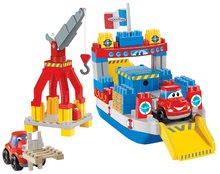Joc de construit Maşini rapide Abrick Écoiffier vapor container cu maşinuţe de la 3 ani