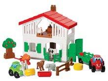 Joc de construit fermă Abrick Écoiffier cu tractor şi animale de la 18 luni