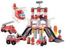 Joc de construit Staţie de pompieri Abrick Écoiffier cu 3 maşini şi cu elicopter de la 18 luni