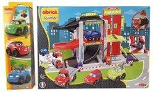 Stavebnica Rýchle auta Abrick Ecoiffier - Poschodová garáž so 4 autíčkami + 3 autá DARČEK od 18 mesiacov 50*34*33 cm 304336