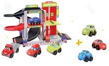 Építőjáték Gyors autók Abrick Écoiffier Emeletes garázs 4 kisautóval + 3 autó AJÁNDÉKBA 18 hó-tól