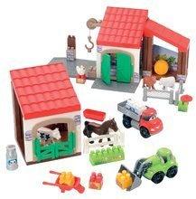 Stavebnice Abrick - Stavebnica Rýchle autá - poschodová farma s 2 autíčkami Abrick Écoiffier od 18 mes_2