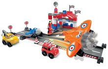 Joc de construit Abrick - aeroport Écoiffier cu 2 maşini şi cu 2 avioane 87 de piese de la 18 luni