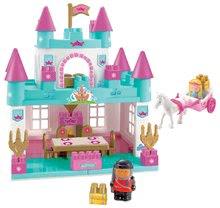 Joc de construit Abrick Castel mare pentru prinţesă Écoiffier cu caleaşcă şi cu prinţesă albastru de turcoaz de la 18 luni