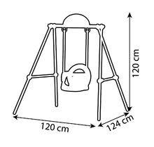 Hojdačky sety - Set hojdačka Portique Smoby s kovovou konštrukciou a piknikový stôl s dvoma stoličkami KidChair od 6 mes_24