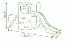 Preliezačky sety - Set preliezačka Tour Aventure Smoby so šmykľavkou dĺžka 160 cm a šliapací traktor RX Bull s prívesom_18