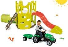 Preliezačky sety - Set preliezačka Tour Aventure Smoby so šmykľavkou dĺžka 160 cm a šliapací traktor RX Bull s prívesom_24