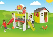 Hracie centrá - Set hracie centrum Fun Center Smoby so šmykľavkou dlhou 150 cm a domček Jura Lodge od 24 mes_38