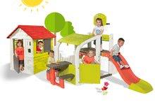 Hracie centrá - Set hracie centrum Fun Center Smoby so šmykľavkou dlhou 150 cm a domček Nature so zasúvacou okenicou od 24 mes_24