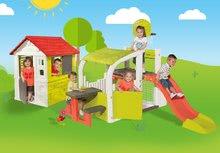 Hracie centrá - Set hracie centrum Fun Center Smoby so šmykľavkou dlhou 150 cm a domček Nature so zasúvacou okenicou od 24 mes_23
