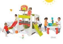 Hracie centrá - Set hracie centrum Fun Center Smoby so šmykľavkou dlhou 150 cm a stôl Voda&Piesok 2v1 s mlynom od 24 mes_27