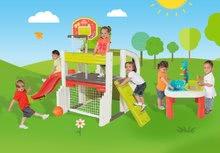Hracie centrá - Set hracie centrum Fun Center Smoby so šmykľavkou dlhou 150 cm a stôl Voda&Piesok 2v1 s mlynom od 24 mes_28