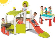 Hracie centrá - Set hracie centrum Fun Center Smoby so šmykľavkou dlhou 150 cm a stôl Voda&Piesok 2v1 s mlynom od 24 mes_26
