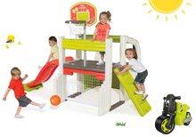 Set centru de joacă Fun Center Smoby cu tobogan şi babytaxiu Racing Bike de la 24 luni