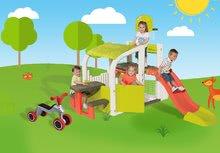 Hracie centrá - Set hracie centrum Fun Center Smoby so šmykľavkou dlhou 150 cm a odrážadlo Rider s návlekmi na topánky od 24 mes_25