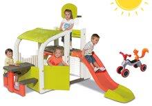 Set centru de joacă Fun Center Smoby cu tobogan şi babytaxiu Rider de la 24 luni
