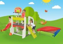 Hracie centrá - Set hracie centrum Fun Center Smoby so šmykľavkou dlhou 150 cm a farebné pieskovisko s plachtou od 24 mes_25