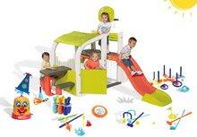 Hracie centrá - Set hracie centrum Fun Center Smoby so šmykľavkou dlhou 150 cm striekajúca vodná chobotnica a 7 športových hier_34