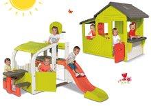 Set centru de joacă Fun Center Smoby cu tobogan şi căsuţă Maison Neo Floralie de la 24 luni