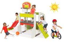 Hracie centrá - Set hracie centrum Fun Center Smoby so šmykľavkou dlhou 150 cm a balančné odrážadlo od 24 mes_24