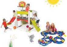 Set centru de joacă Fun Center Smoby cu tobogan şi pistă de apă Aquaplay 'n Go în valiză de la 24 luni